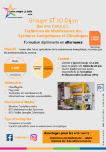 Plaquette Bac Pro TMSEC